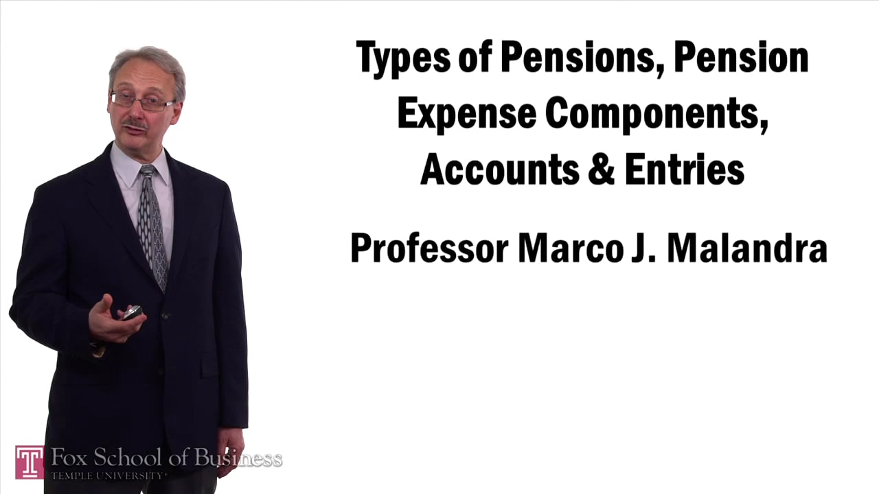 57393Types of Pensions Pension Expense Components Accounts and Entries