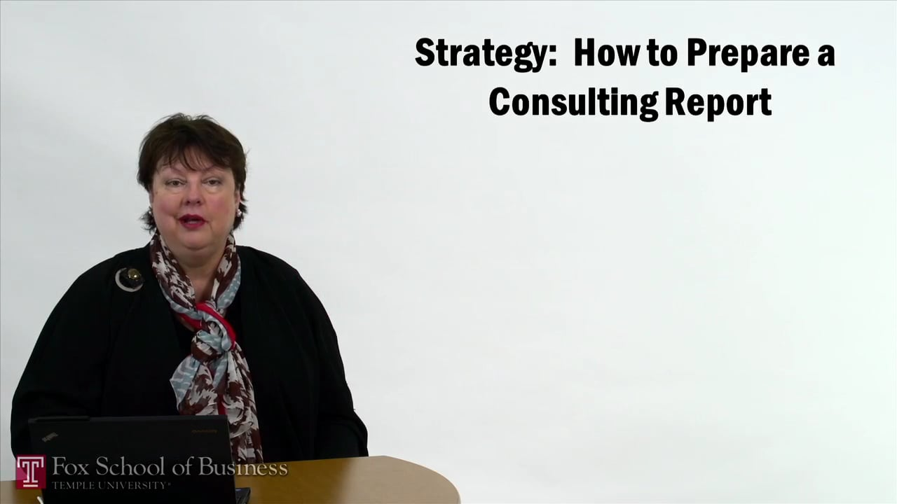 57330Strategy – How to Prepare Consulting Report