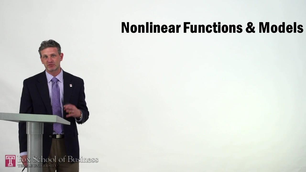 57320Nonlinear Functions and Models