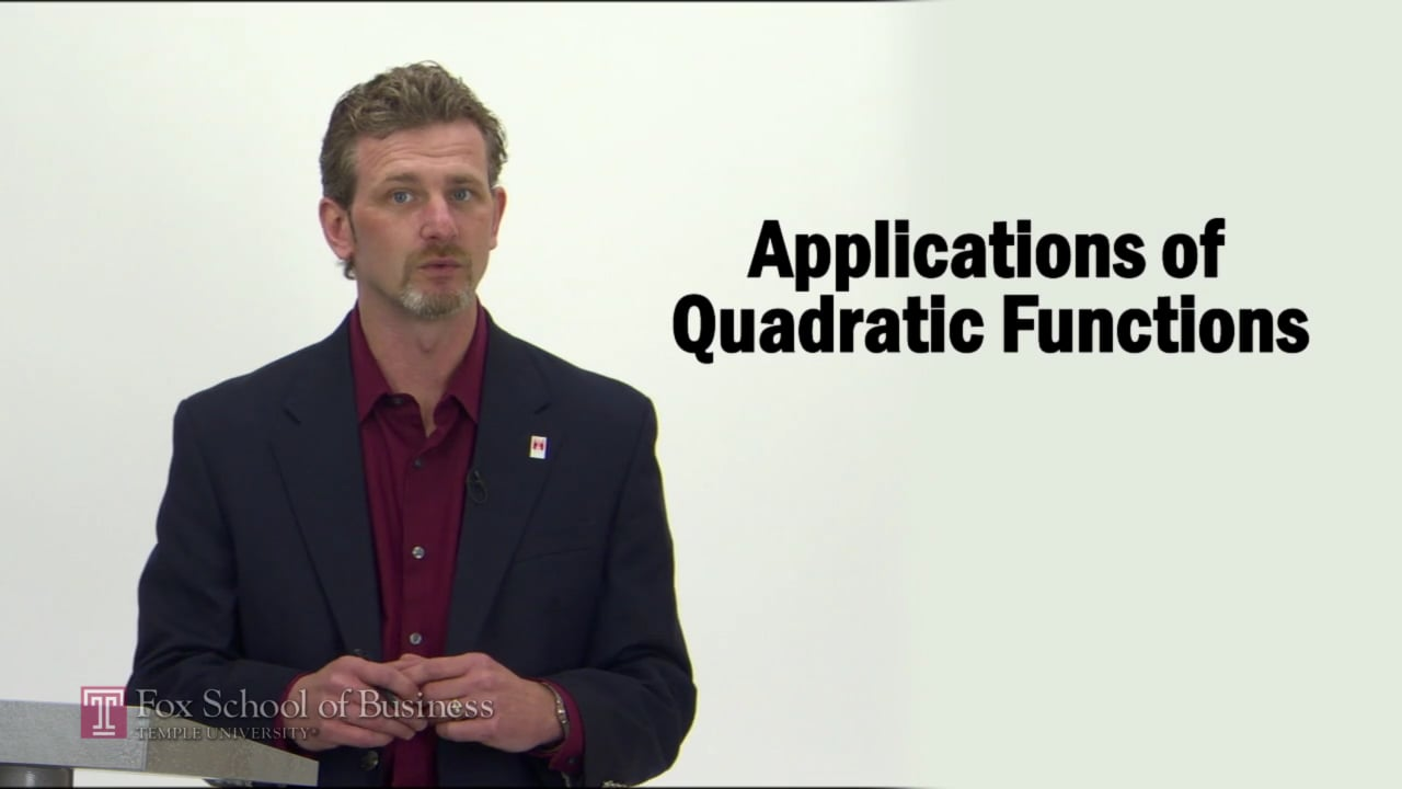 57266Applications of Quadratic Functions