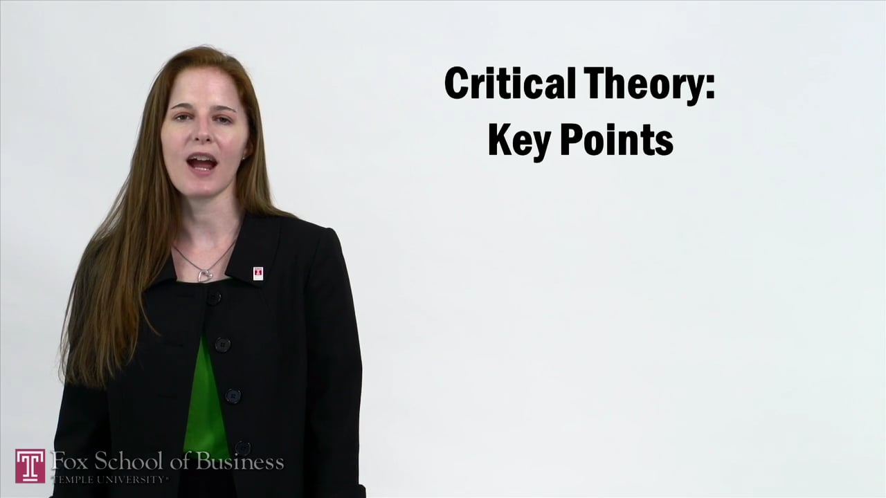 57253Critical Theory – Key Points