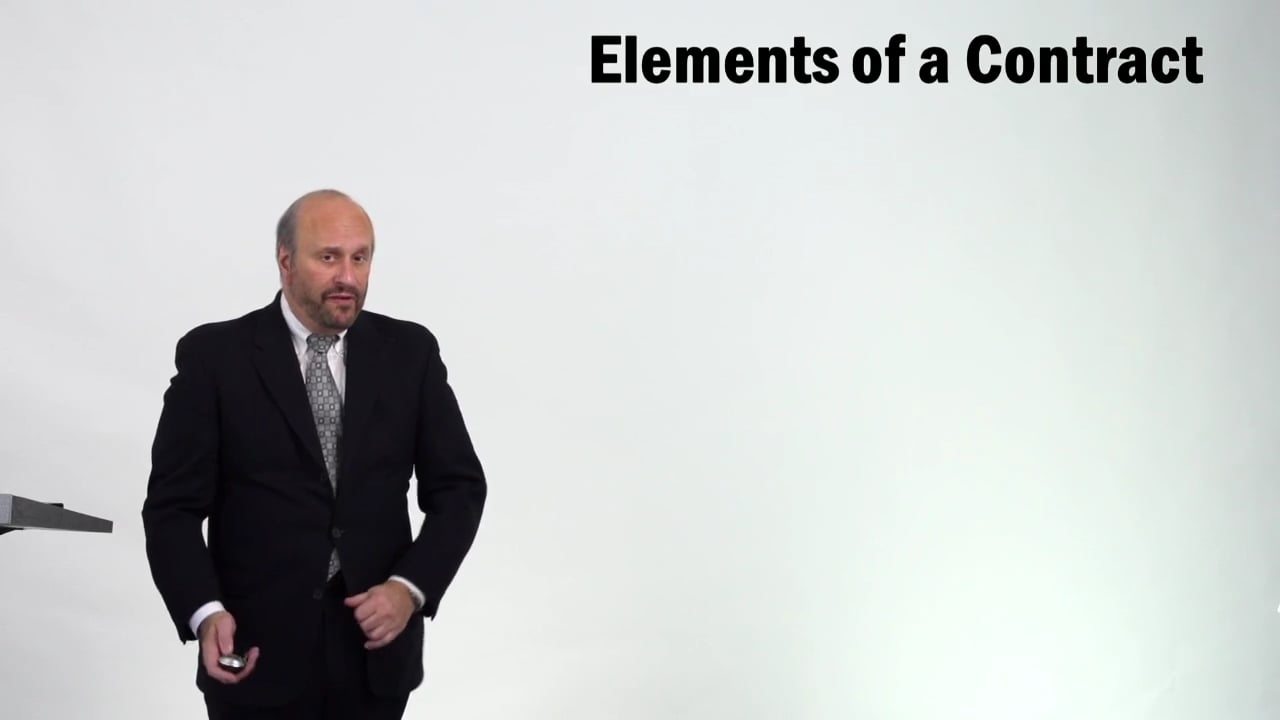 57233Elements of a Contract