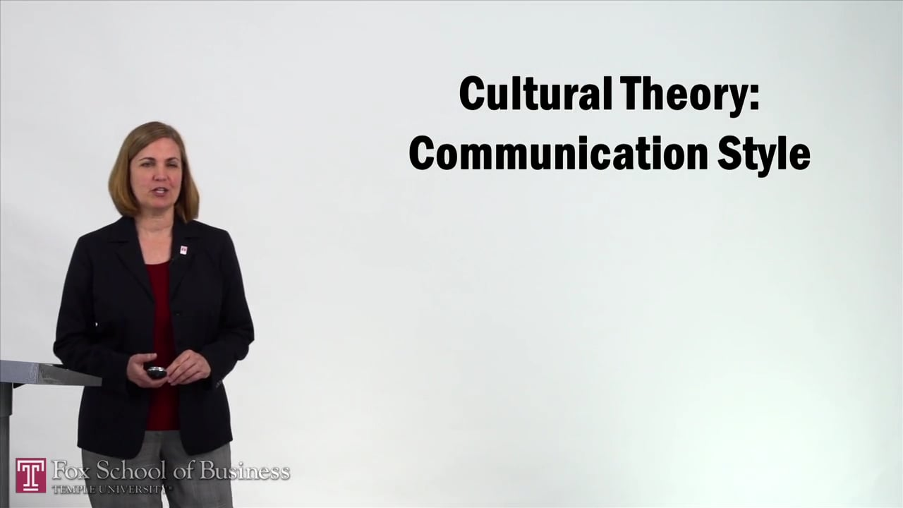 57228Cultural Theory – Communication Style