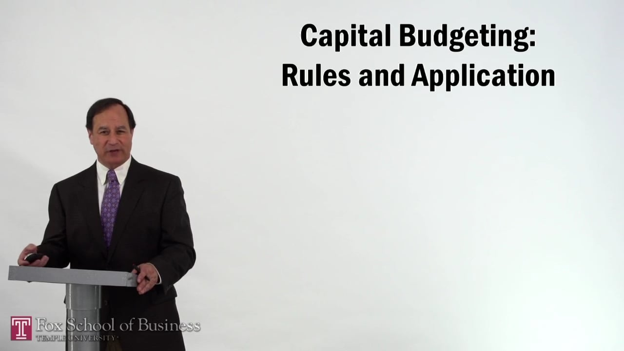 57206Capital Budgeting – Rules and Application
