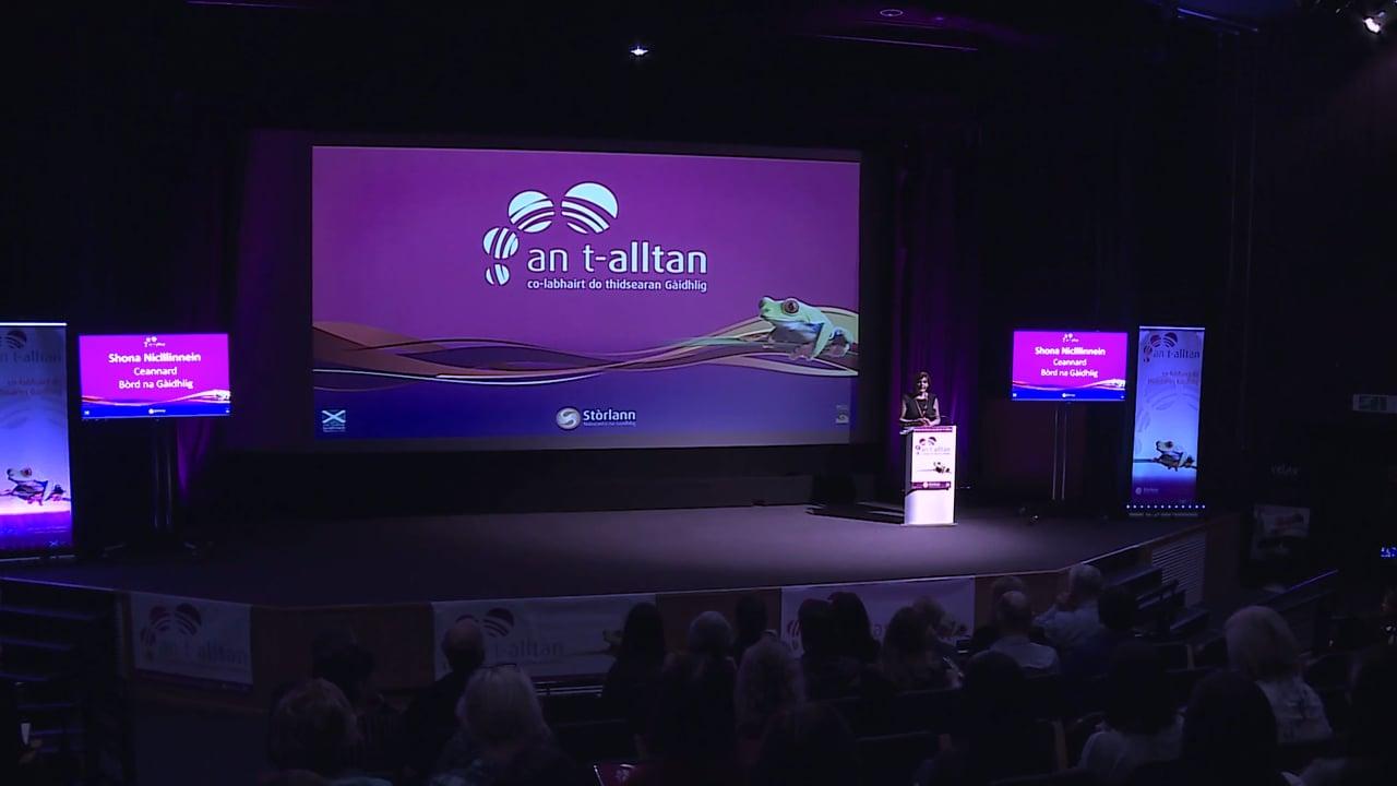 An t-Alltan 2016 - Shona Niclllinnein, Ceannard Bòrd na Gàidhlig