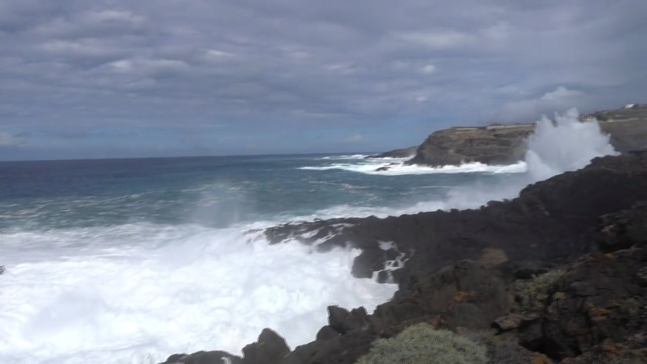 Huge Waves Pound Tenerife's North Shore