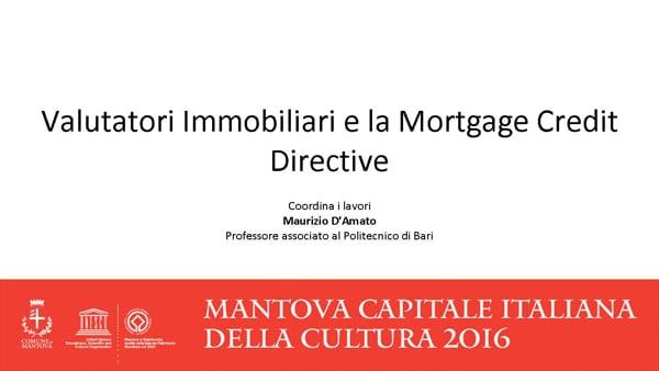 Valutatori Immobiliari e la Mortgage Credit Directive