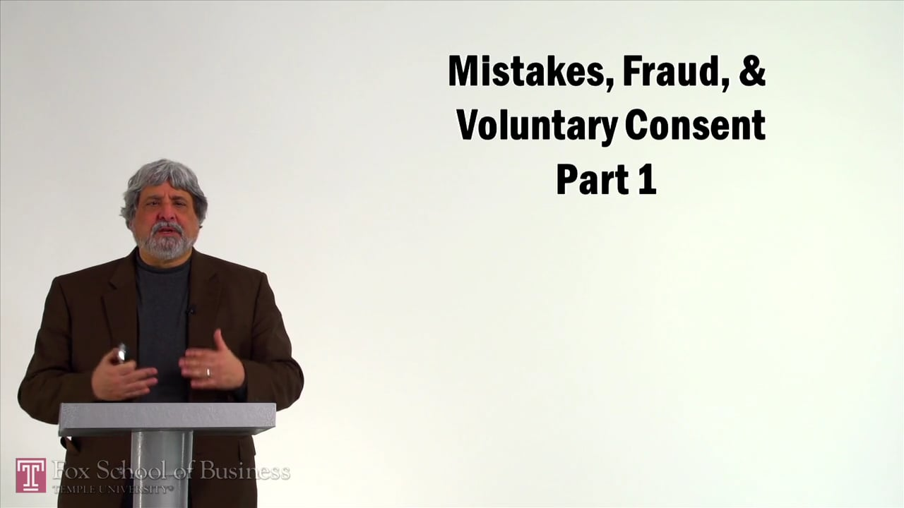 57108Mistakes, Fraud, and Voluntary Consent I