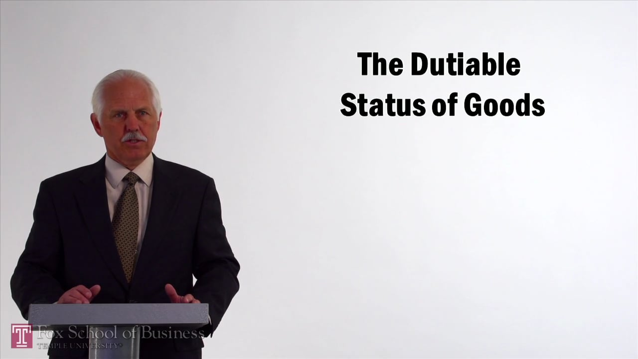 57092The Dutiable Status of Goods