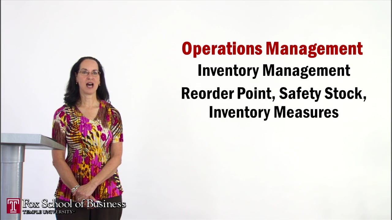 56937Inventory V: Reorder Point, Safety Stock, Inventory Measures