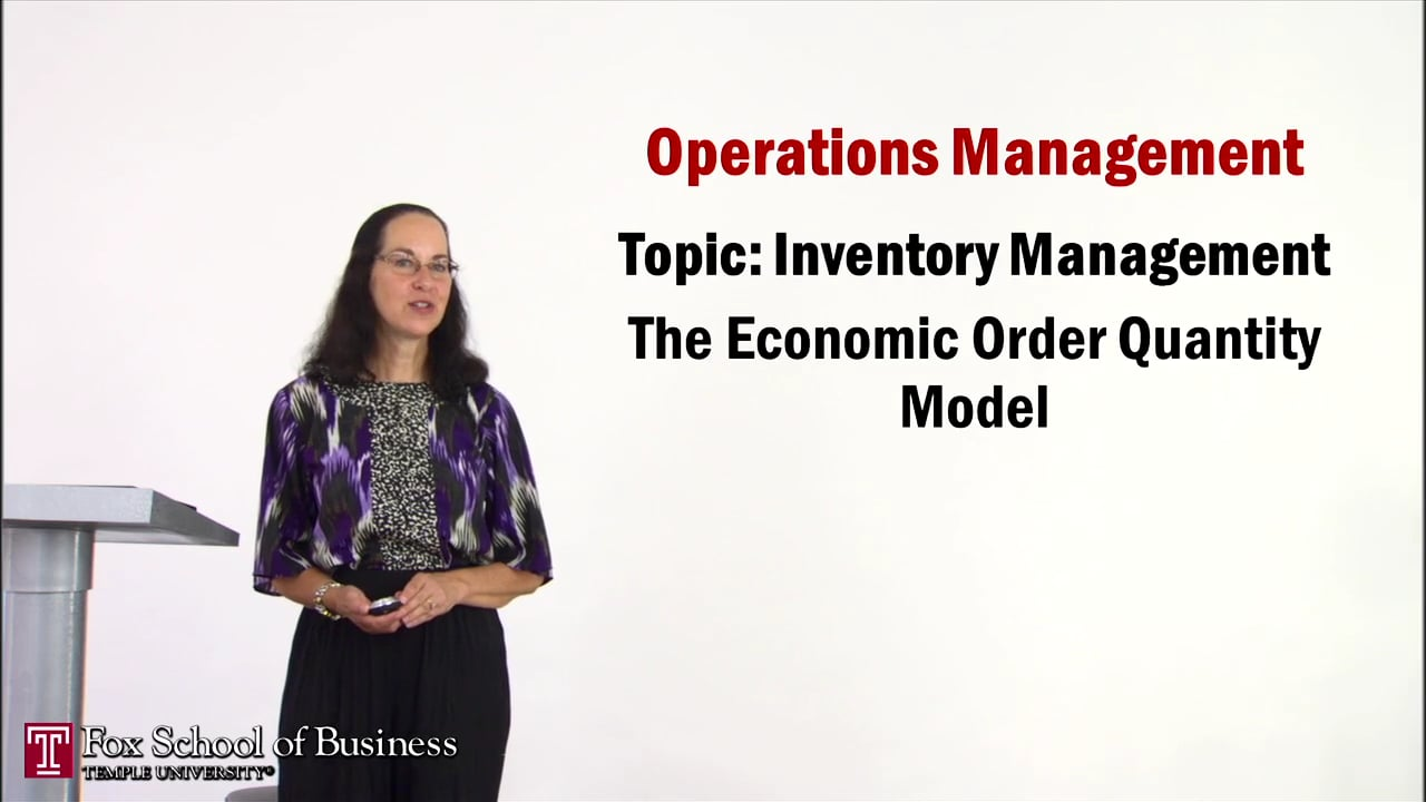 56935Inventory II: The Economic Order Quantity Model