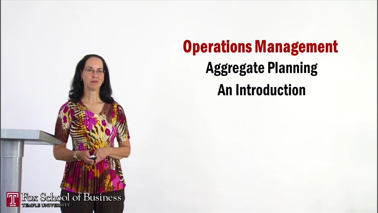 56930Aggregate Planning I