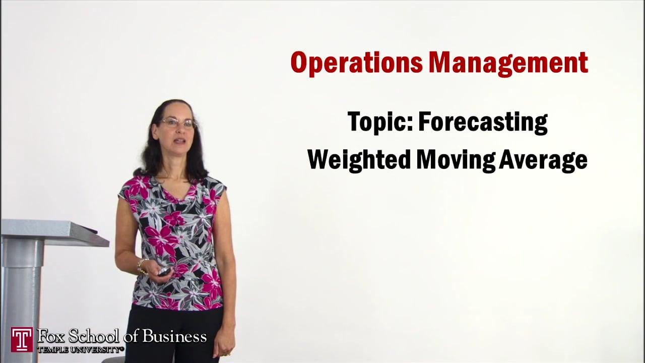 56925Forecasting Weighted Moving Average
