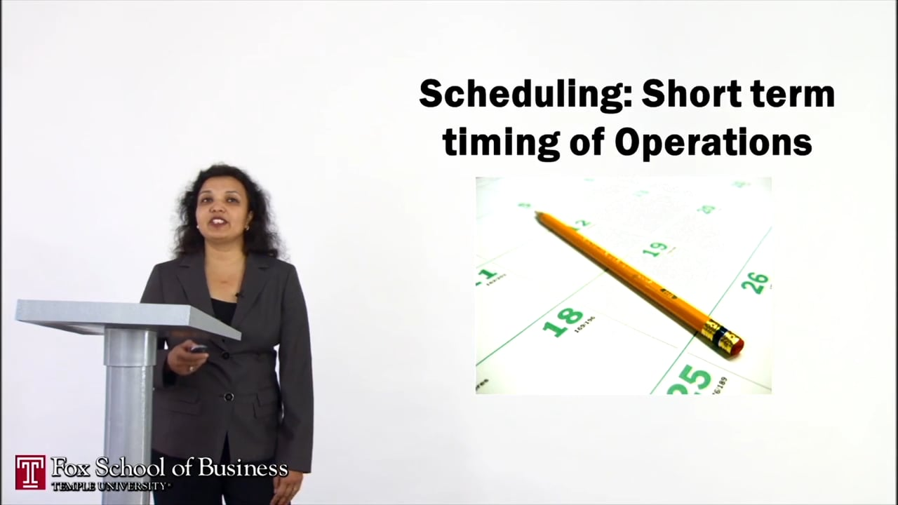 56902Scheduling: Short term timing of Operations