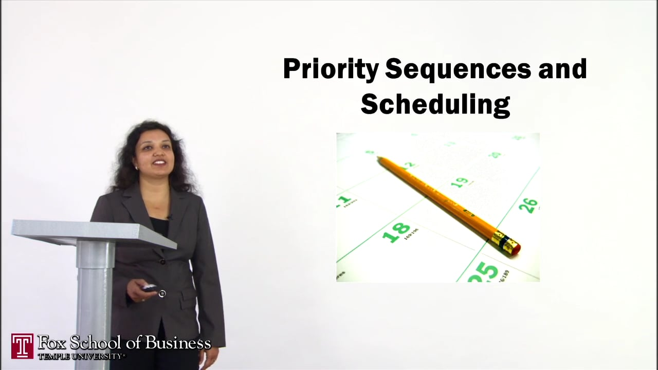 56903Priority Sequences and Scheduling