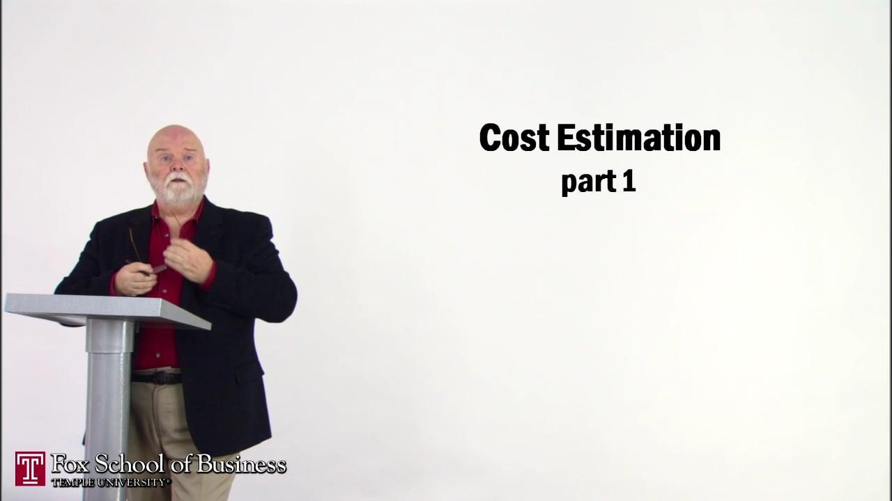 56834Cost Estimation I