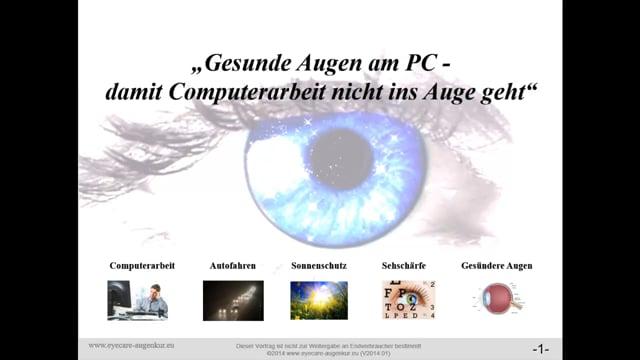 Augen und Bildschirmarbeit