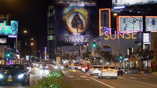 Doctor Strange - Sunset Blvd Projection Billboard