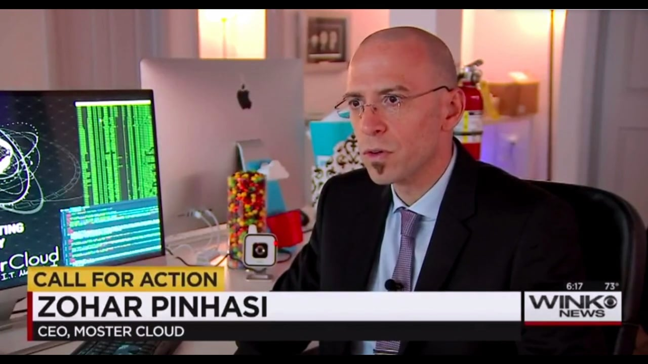 """MonsterCloud's CEO Zohar Pinhasi interviewed by """"CBS"""": A new war, Hackers using your devices to commit crimes"""
