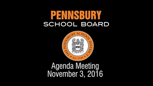Pennsbury School Board Meeting for November  3, 2015