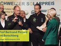Weltsolarpreis 2016 an Prof. Dr. Bertrand Piccard und André Borschberg von Solar Impulse