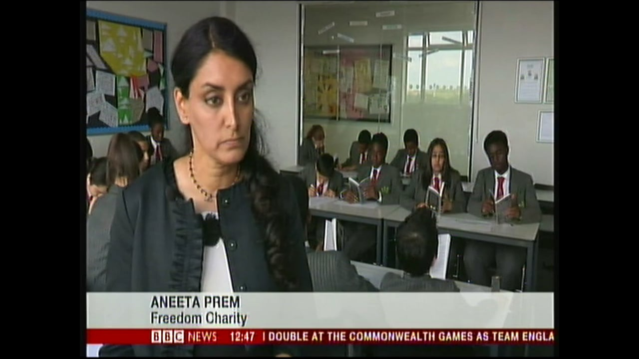 Aneeta Prem on BBC News