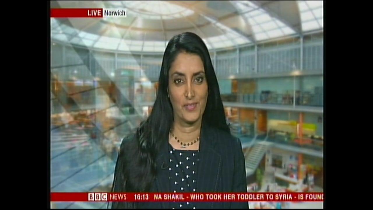 Aneeta Prem talking on BBC News