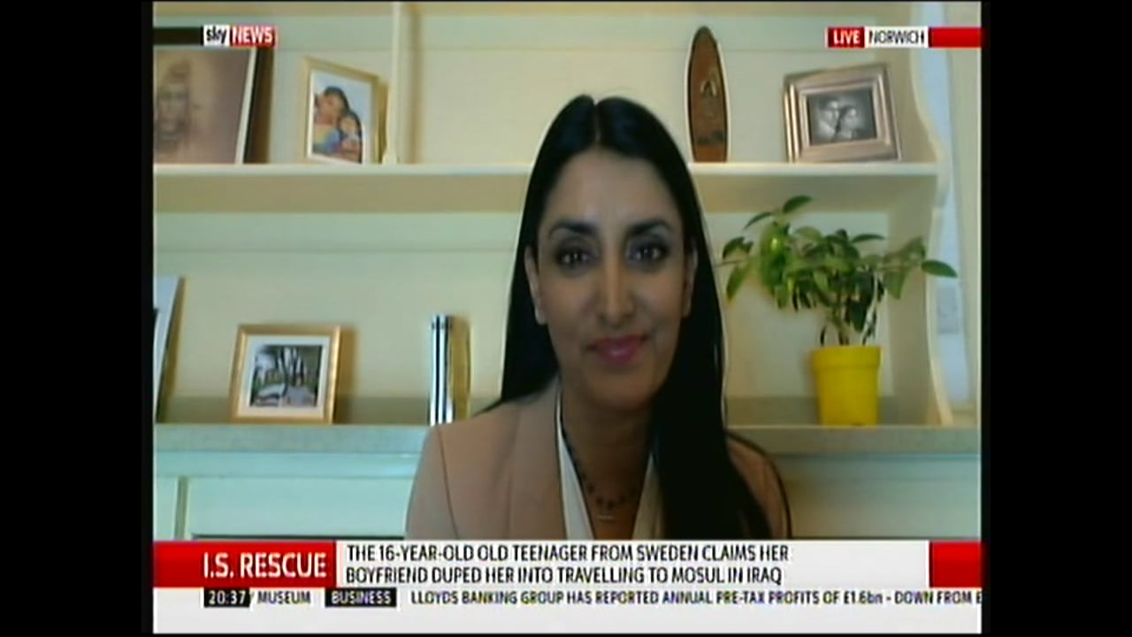 Aneeta Prem on Sky News