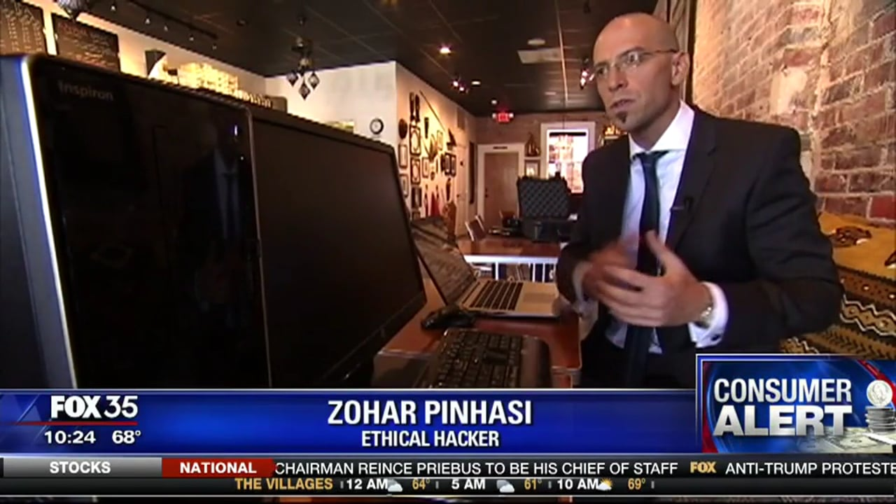 """MonsterCloud's C.E.O - Zohar Pinhasi interviewed by """"FOX"""" : Cyber crooks aim for your information with misplaced USB scam"""
