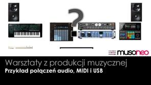 Przykład połączeń audio MIDI USB