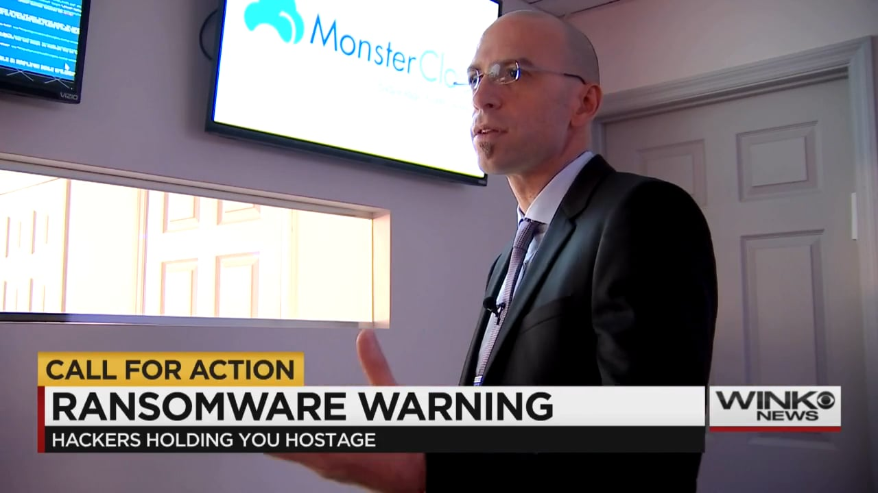 """MonsterCloud's CEO Zohar Pinhasi interviewed by """"CBS"""":  """"IT"""" threat  - Ransomware virus effects small business"""
