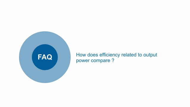 How does efficiency compare to output power for the new  PH-A DC-DC High Density Power Modules