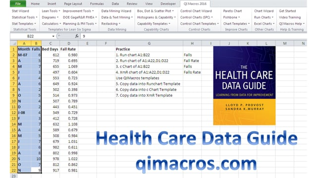 Health Care Data Guide - Run, u and XmR Charts pg53