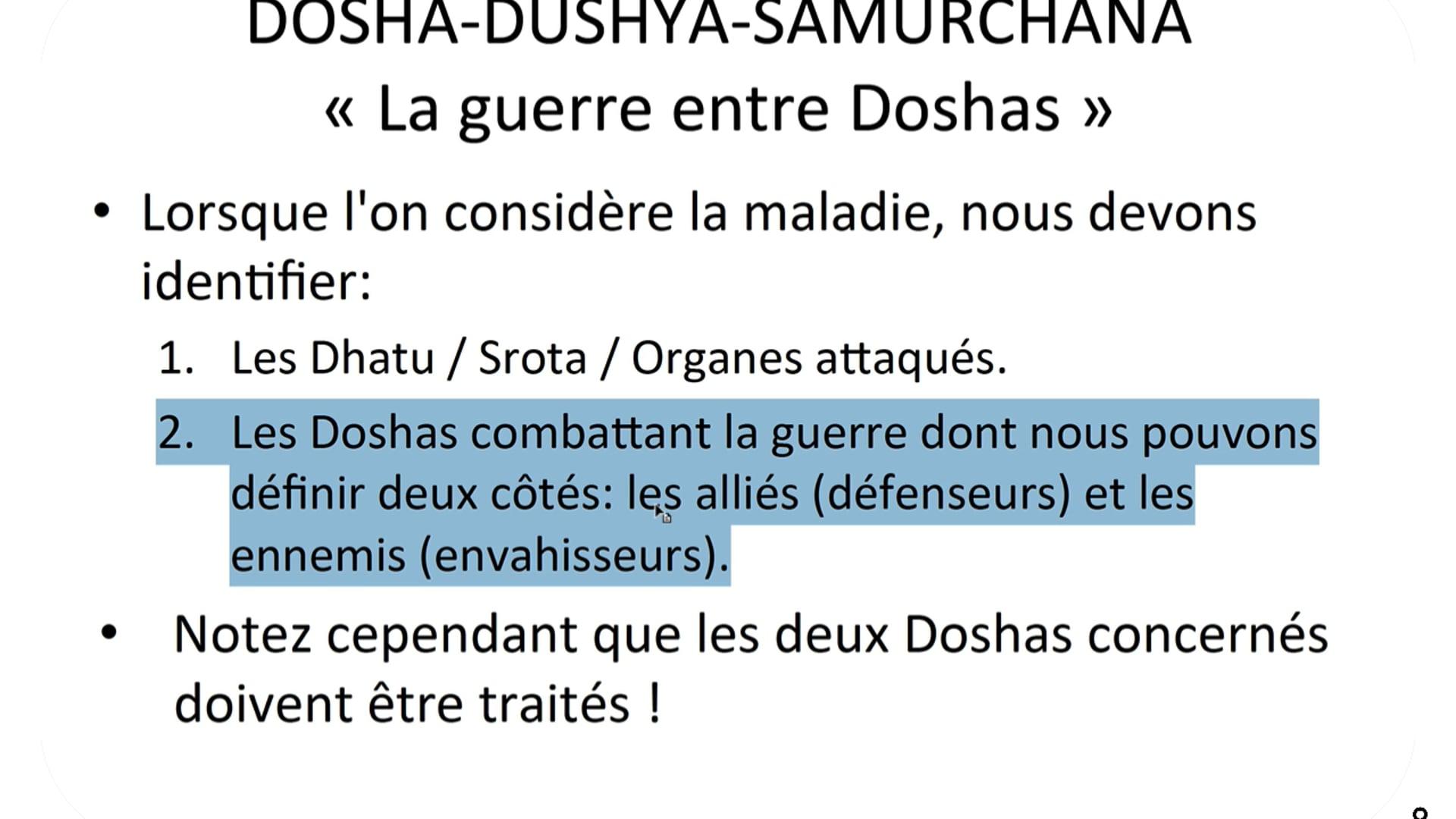 Dosha Nidanam (comment trouver le dosha a traiter)