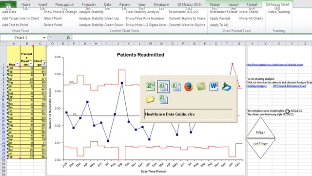 Health Care Data Guide  Hospital Readmissions p chart pg 170