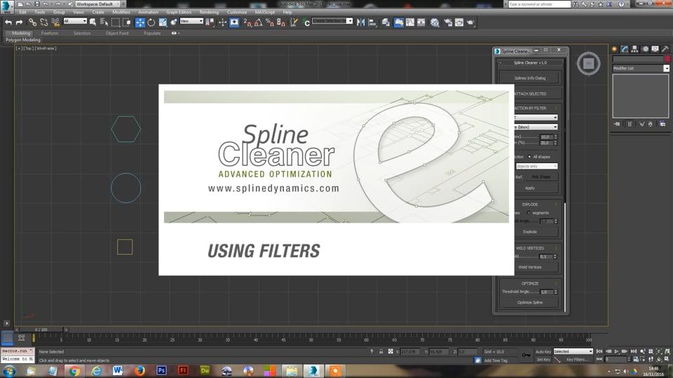 Spline Cleaner 3dsmax plugin - Using Filters