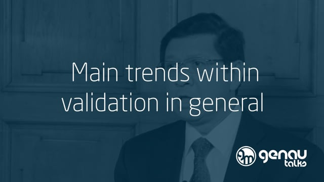 Main trends within validation in general.