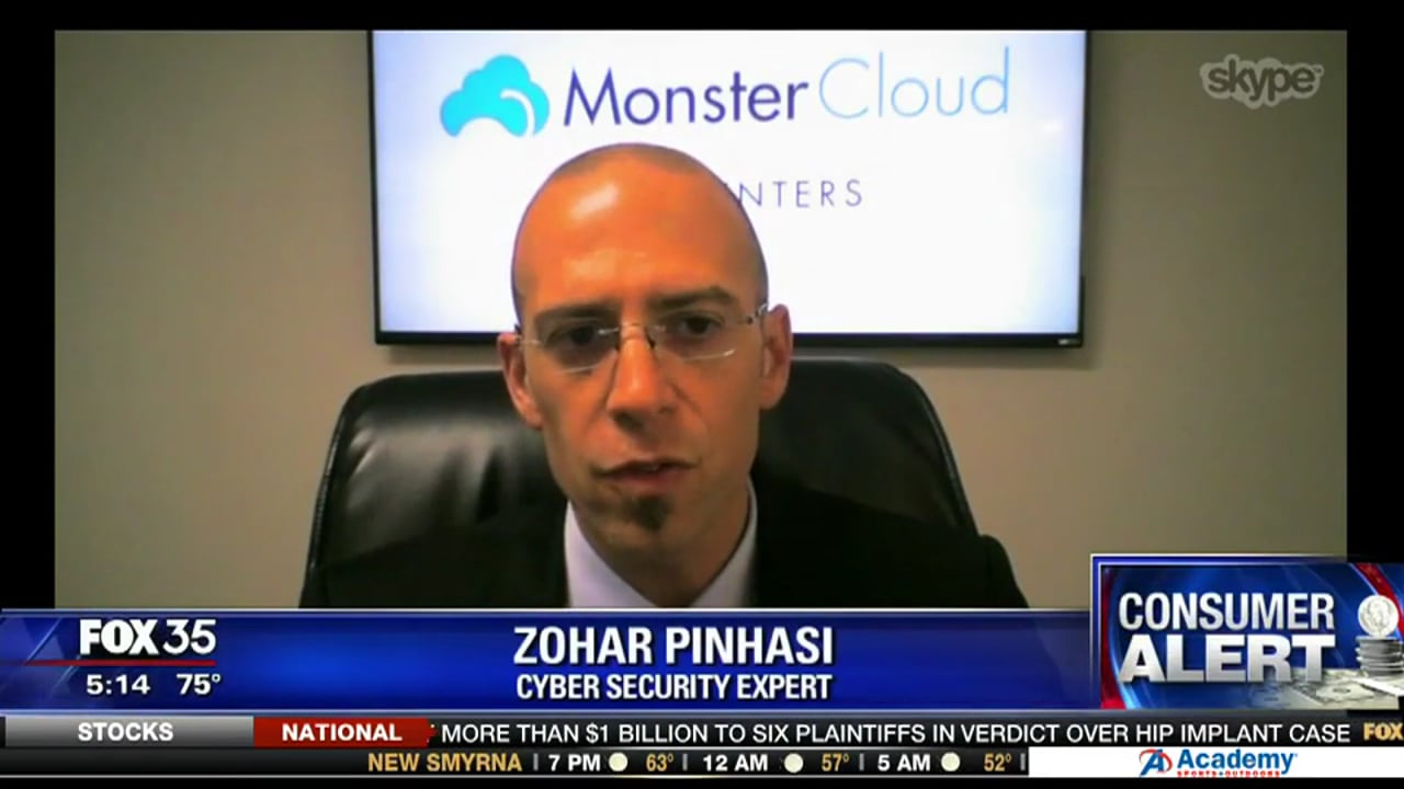 """""""FOX"""" invited our C.E.O Zohar Pinhasi to provide some insides on the dangers of shady text messages."""