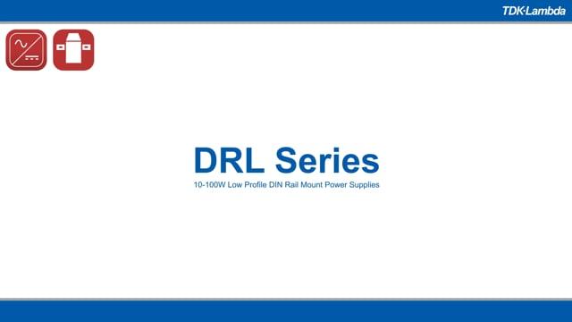 DRL 10-100W Low Profile DIN Rail Mount Power Supplies