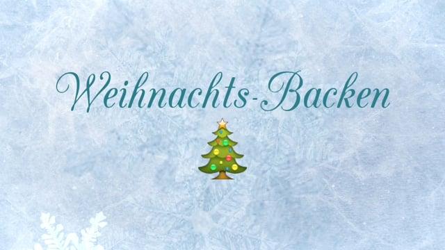 Weihnachts-Backen
