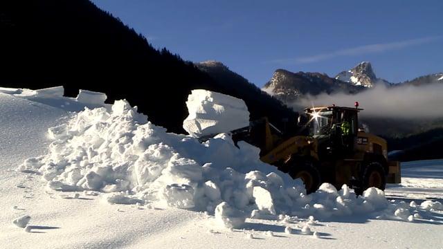 Loipenpräparierung im Biathlonstadion zu Ruhpolding