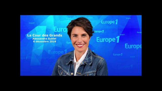 Radio / Europe 1 › La Cour des Grands avec Alessanda Sublet / Filae.com
