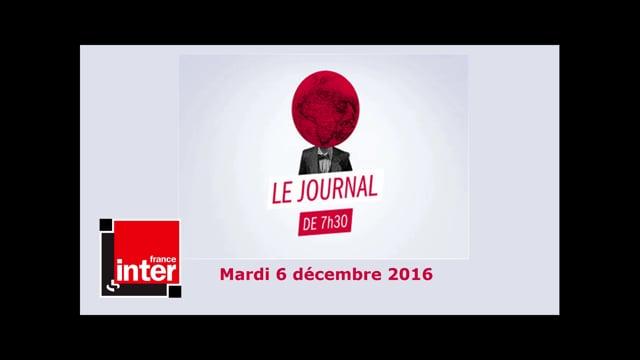 Radio / France Inter › Journal du Matin / Filae.com