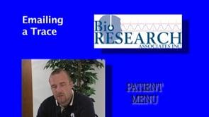 Patient Menu – Emailing a Trace