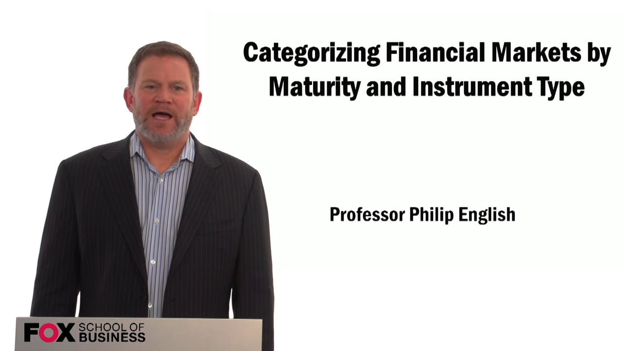 59281Categorizing Financial Markets by Maturity and Instrument Type