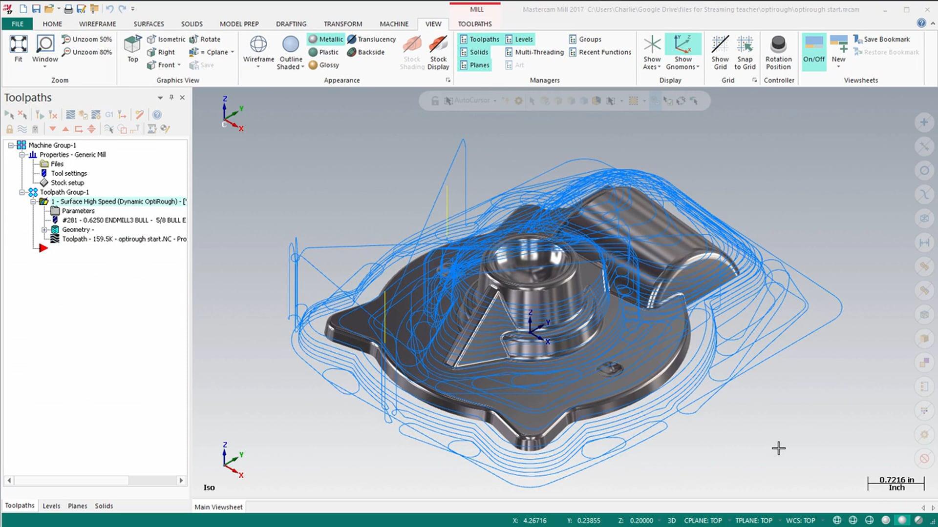 3D Dynamic Toolpaths