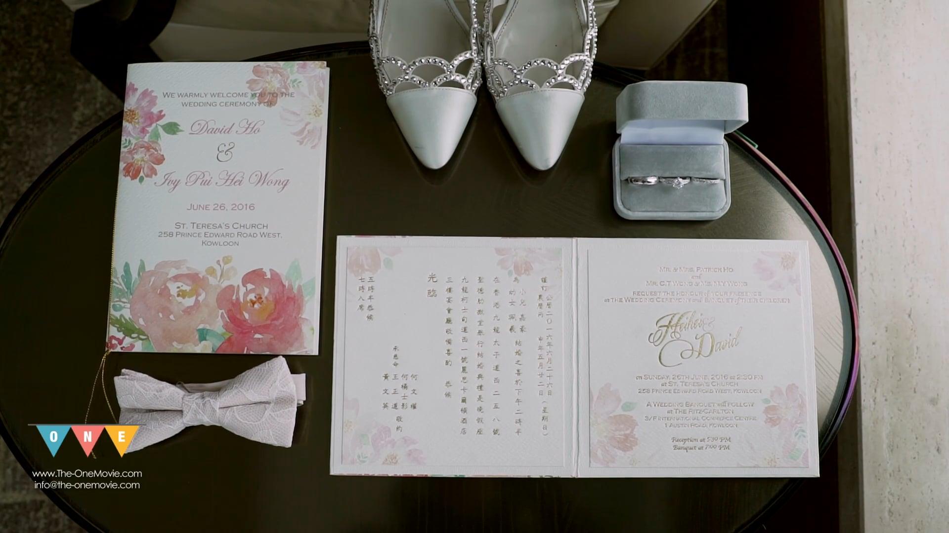 Hei Hei & David | Special edition | St Teresa Church | Ritz carlton |  Beautiful in White
