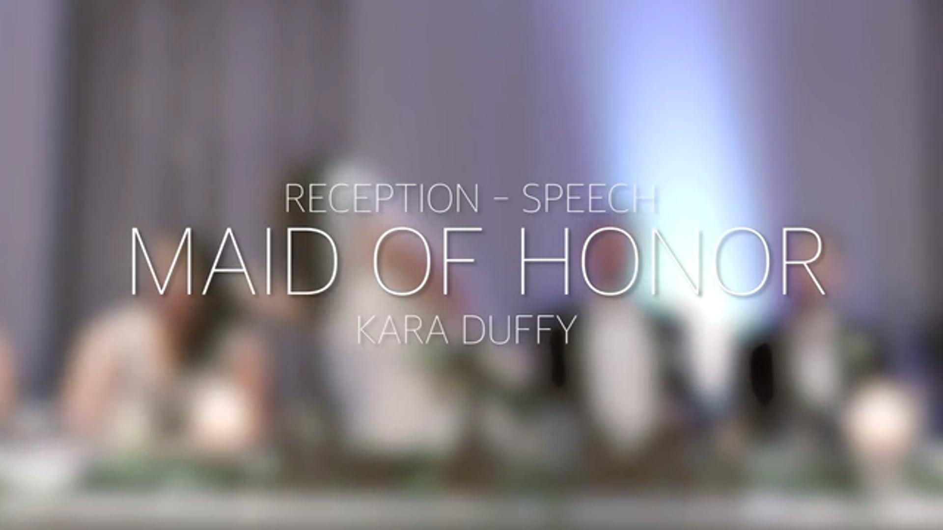 Doyle Wedding Reception - Maid of Honor Speech