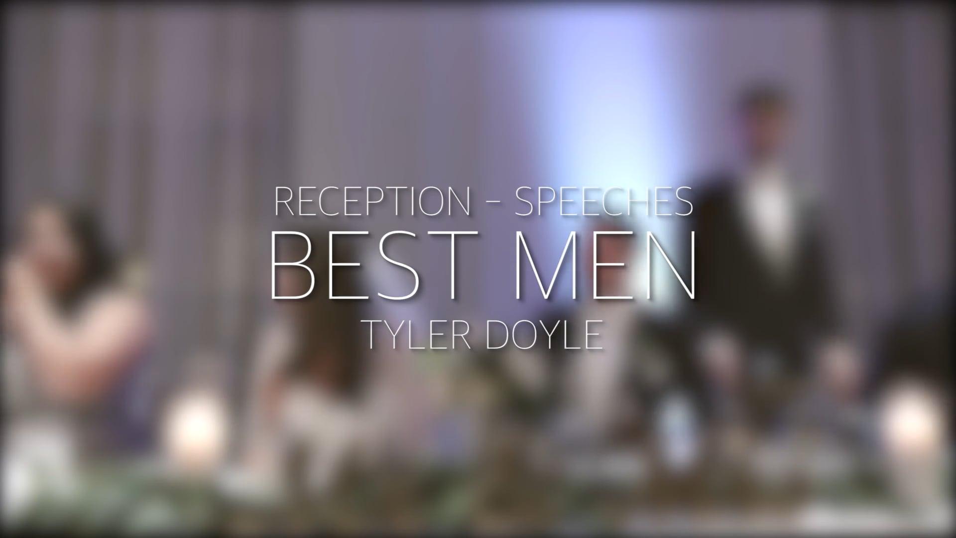 Doyle Wedding Reception - Best Man Speech - Tyler