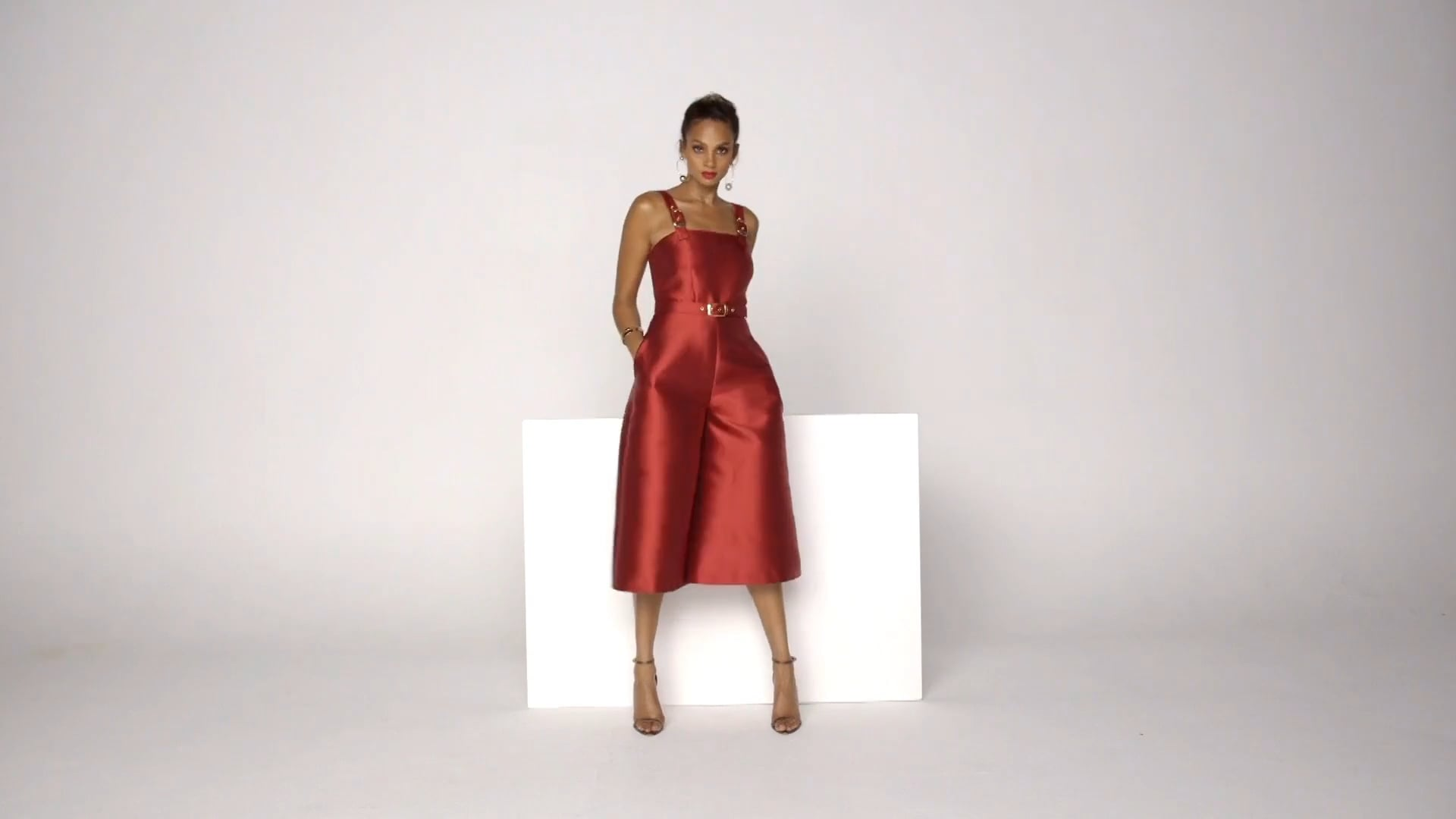 Alesha Dixon AW16 Collection - Black & Red Culottes